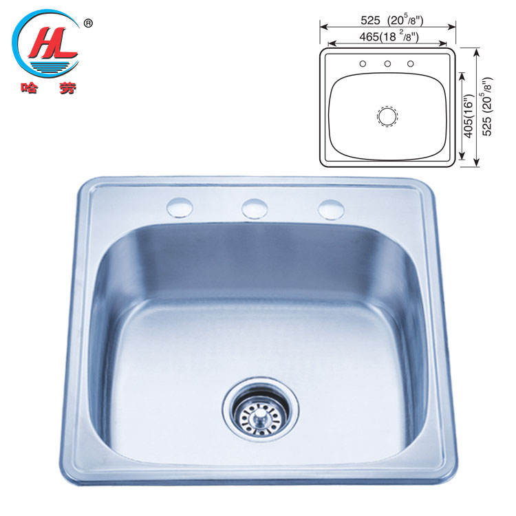 Drop in OEM & ODM stainless steel kitchen sinks HQ-9163