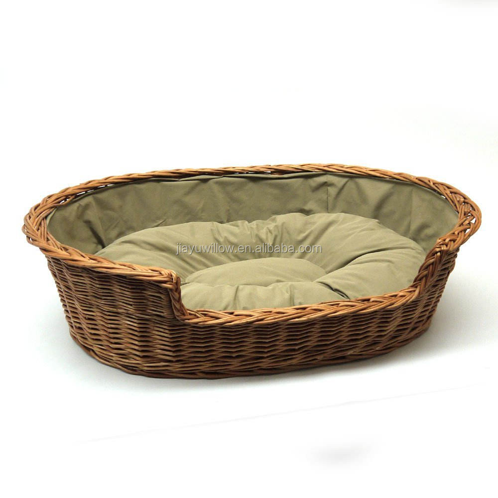 ecofriendly Wicker Pet Basket, Wicker Dog Basket Well Made In China