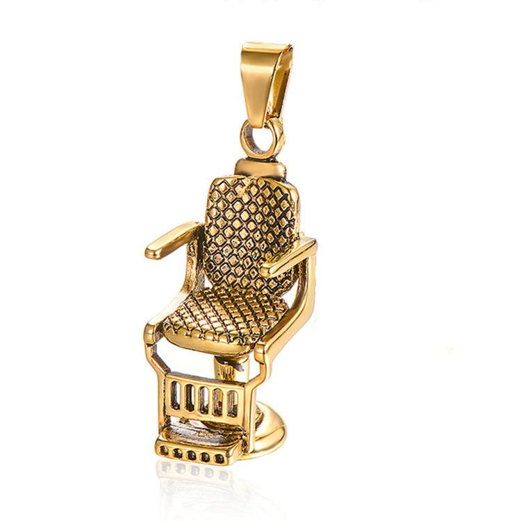 Europe hot selling barber shop hair salon chair necklace pendant