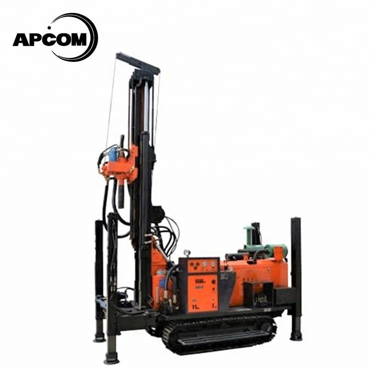 APCOM ZEGA Kaishan depth 200m 300m 400m 600m Crawler rotary portable water well drilling rig machine prices