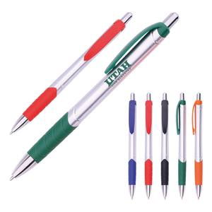 Promotional Plunger Action customized Ballpoint pen with logo