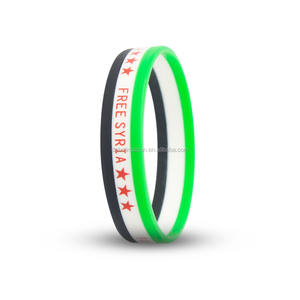 2017 Syria flag Cheap Custom Silicone Bracelet Fashion silicone wristband rubber bracelets