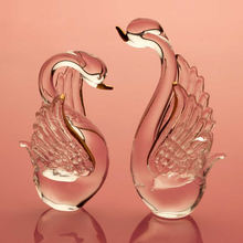 China factory supply Glass ornament glass swan figurines