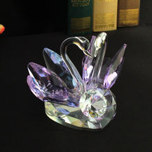 Elegant crystal swan gifts and crafts for wedding souvenir