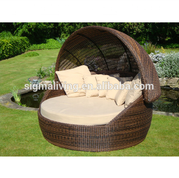 New Arrival All Weather outdoor furniture rattan round outdoor daybed