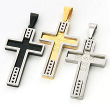 Wholesale stainless steel jewelry christian cross pendant