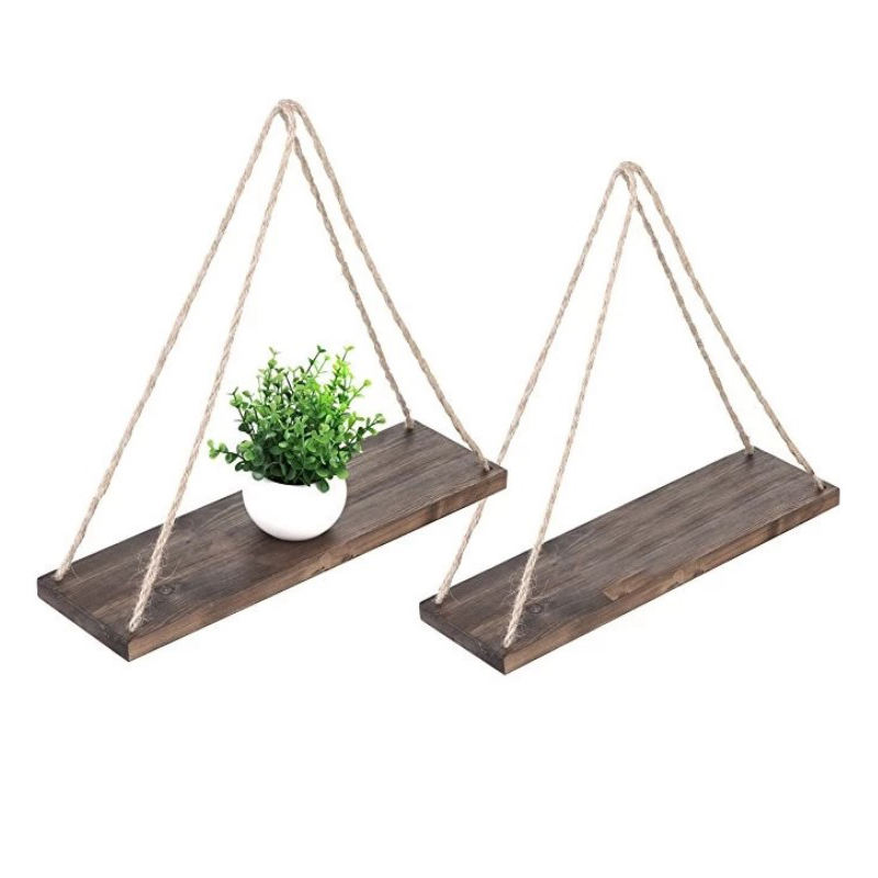 New promotional antique solid wood wall shelf living room