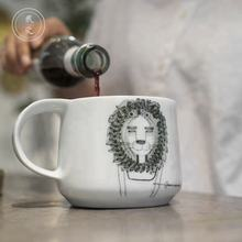 Lion queen's creative ceramic large capacity water cup simple milk/coffee mug with costom logo