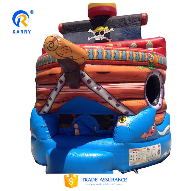 2017 Hot สนุกโจรสลัดเรือ inflatable bouncer, inflatable bounce house, เด็กปราสาทพอง