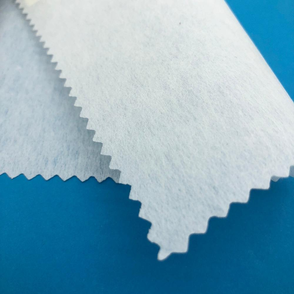 100% polyester cutaway adhesive bonded interlining or interfacing stabilizer for waist