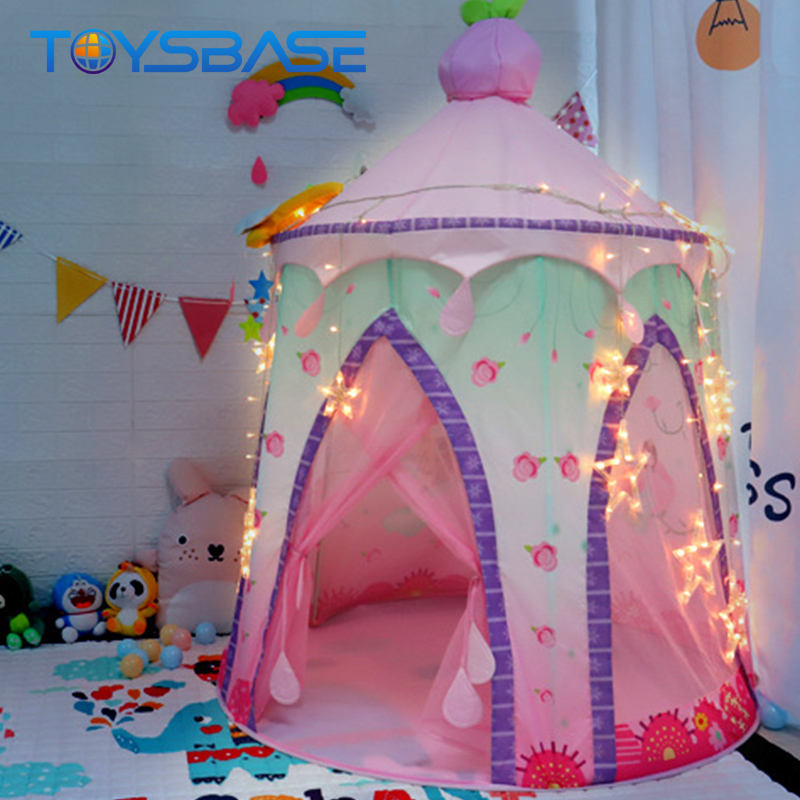 Princess Toy Children Game Indoor Folding Pop Up Pink Princess Tent