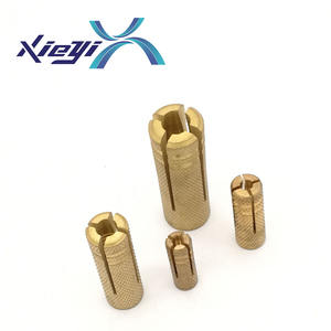 High quality expansion anchor M6 M8 M12 1/4 3/8 1/2 Concrete Knurled Brass drop in anchor