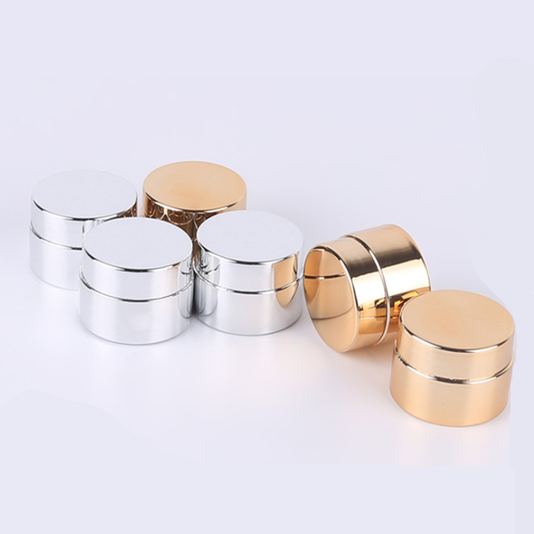 Wholesale 5g Plastic PP fancy plastic face cream containers / UV gold silver gel cream jars for sample
