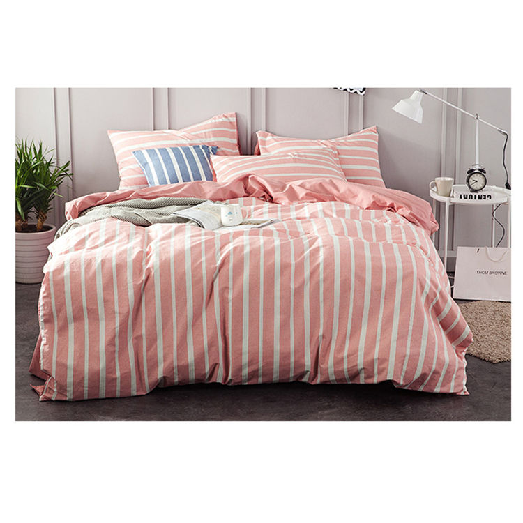 Super Soft Feeling and Comfortable Luxury All Cotton Four-piece Set Hotel Bedding Set With 2pcs Pillow Case, Quilt and Mattress
