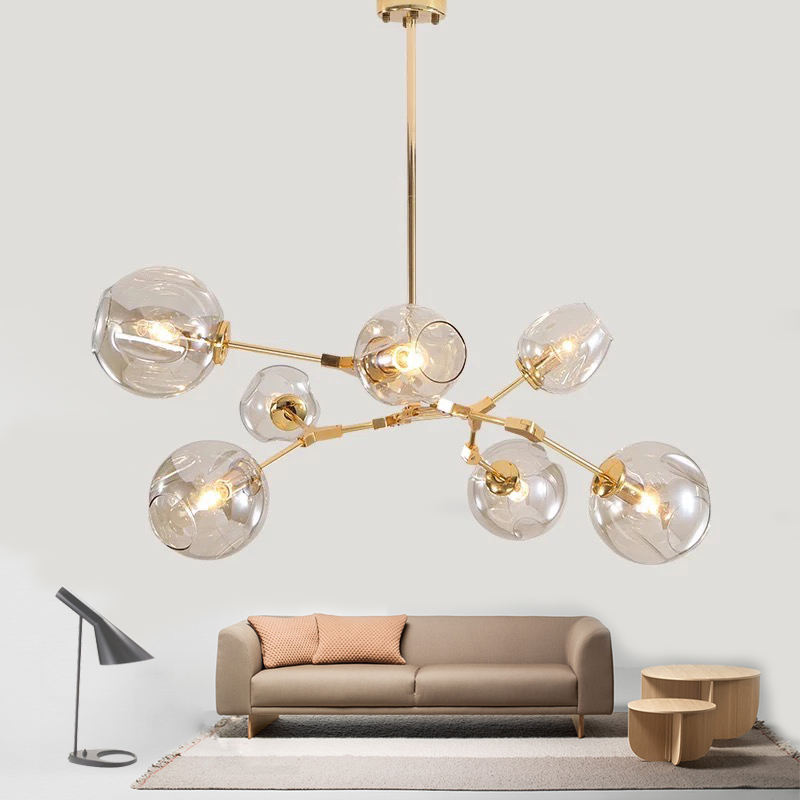Nordic Moderne Restaurant Magic Bean Glas Led Kroonluchter Licht Top Selling Woonkamer E27 Edison Wolfraam Hanger Lamp
