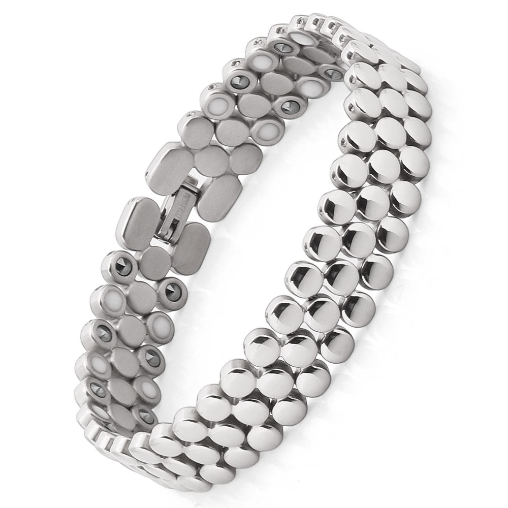 Men Women Bio Magnetic Titanium Germanium Charm Bracelet