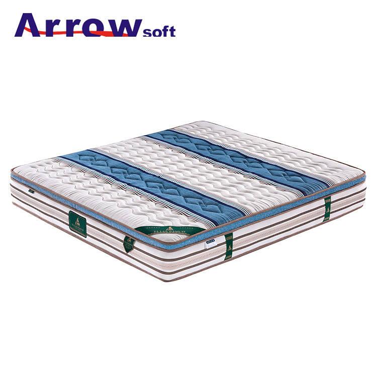 Супер мягкая спальня латекс карман весна парча ткань кровать матрас
