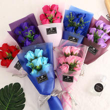 2019 hot sale soap rose flower bouquet for valentine's day