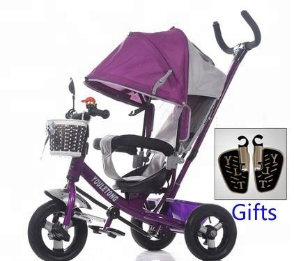 Hot toys for christmas 2018 Small Kids Baby Ride On Toys Kids Metal Tricycle baby stroller