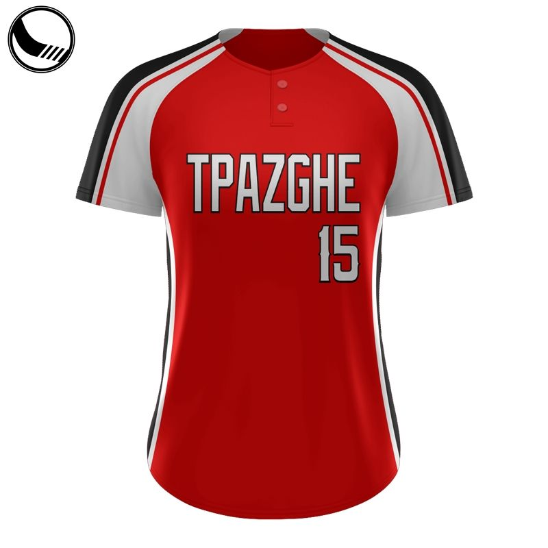 bulk red and white cheap blank baseball jerseys
