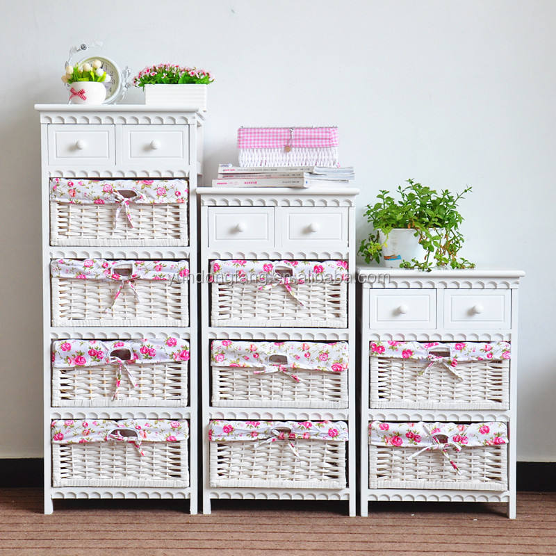 countryside white wooden chest of drawers