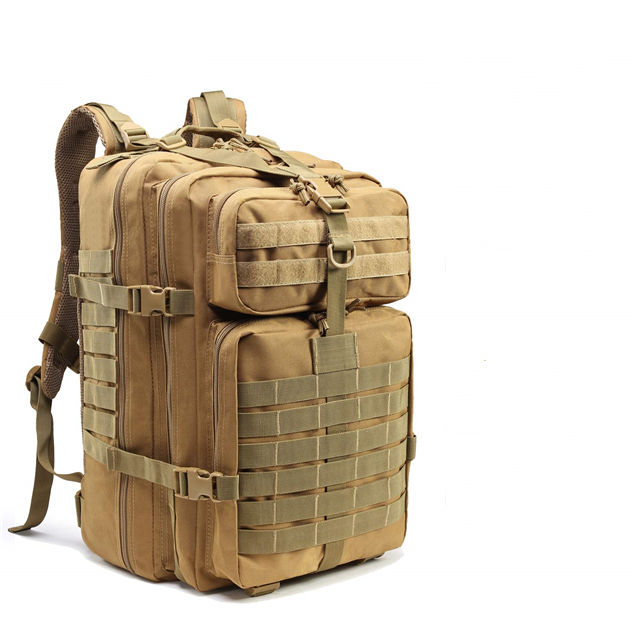 Military Tactical Army Rucksack Nylon Assault Backpack+MOLLE Pouch/Elastic String Web Dominator & Locking D-Ring Buckle