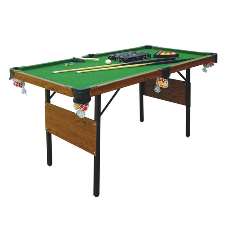 "SZX 60"" Cheap folding mini snooker pool table with folding metal legs for kids"