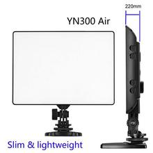 Newest YONGNUO YN300 Air Ultra Thin On Camera Led Video Light Pad Panel for Canon Nikon Sonys Panasonic DSLR Camcorder