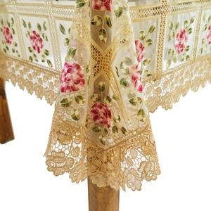 Free Sample Embroidery White Tablecloth Fabric Table Cloth Cover For Wedding