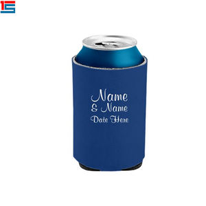 Blank custom neoprene snap on sublimation beer water bottle can cooler
