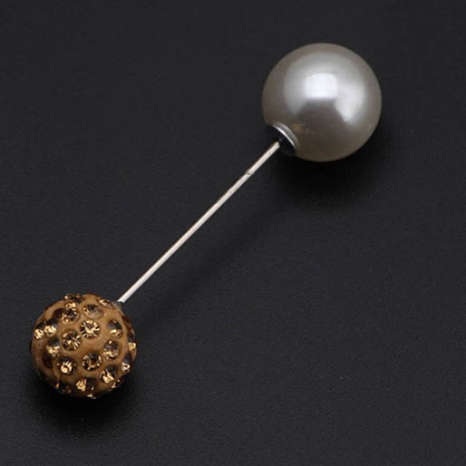 Wholesale Bulk Long Safety Stick Pin With Pearl Pad Hijab Brooch