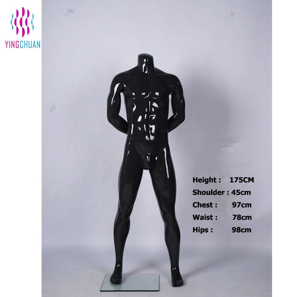 Fashion headless model black male sports mannequin