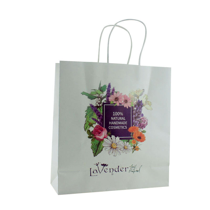 Custom Made Promotional Fancy Paper Grocery Bags With Your Own Logo For India