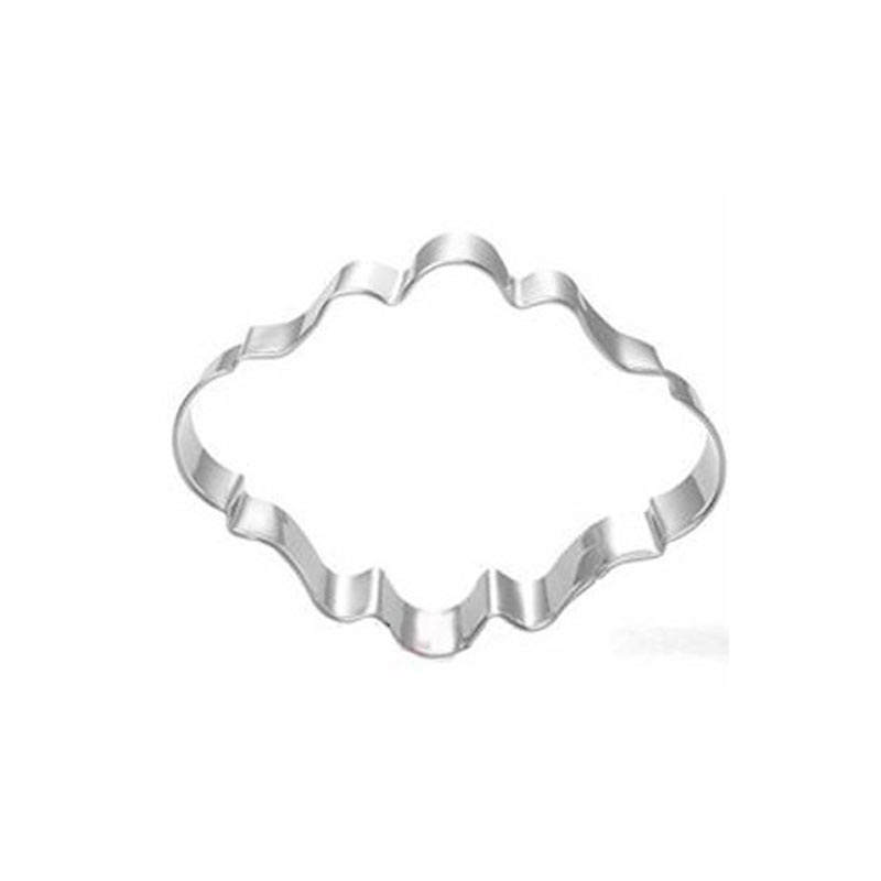 DIY oval European border frame wish frame shaped chocolate fondant cookie cutter