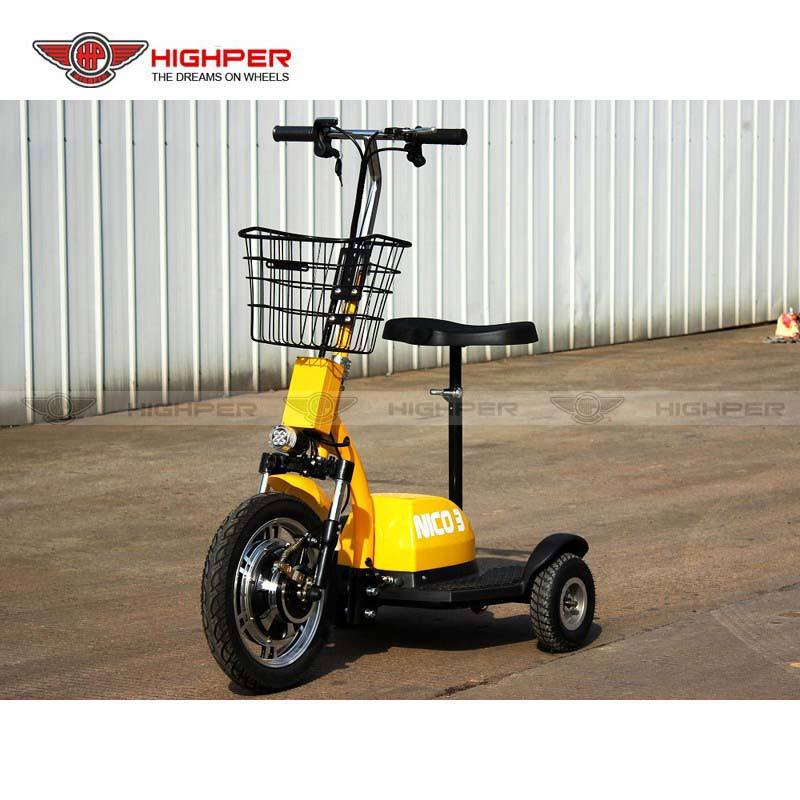 Cheap Electric Mobility 3 Wheel Disability Scooter 350W 36V for Adult and Elderly