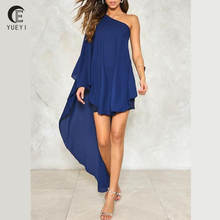 women double layered ruffle short cocktail dresses