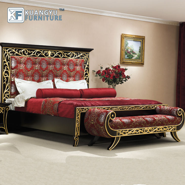 Antique Style Gold Hotel Furniture,Luxury 5 Stars Hotel Bedroom Furniture,hotel room furniture