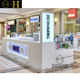 Shopping mall mobile phone kiosk design mobile phone display counter for phone kiosk design