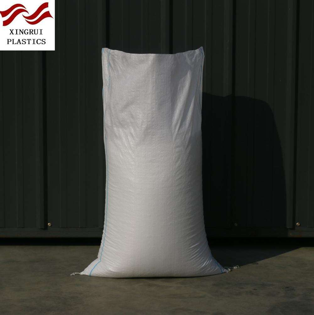 white new polypropylene woven sack grain bag flour sack bag 50KG