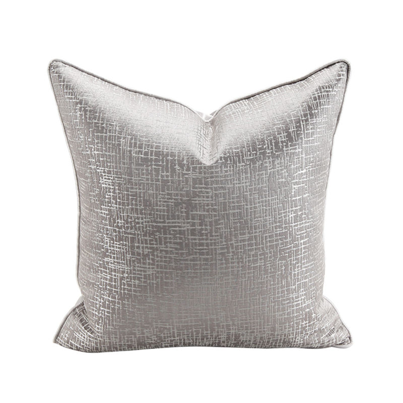 China Wholesale OEM Silver Foil Velvet Pillow Decorative Sofa Throw Pillows