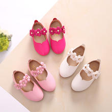 White Pink Kids Toddler Flower Children Wedding Party Dress Princess Leather Shoes Girls School Dance Shoes