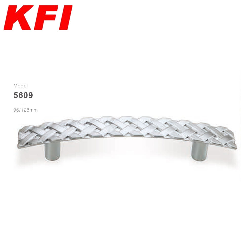5609 model silver color braiding shape high quality zinc alloy drawer cabinet handle pull handle