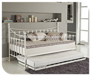 Wholesale King Single metal sofa bed / iron day bed / divan bed for sale bedroom furniture