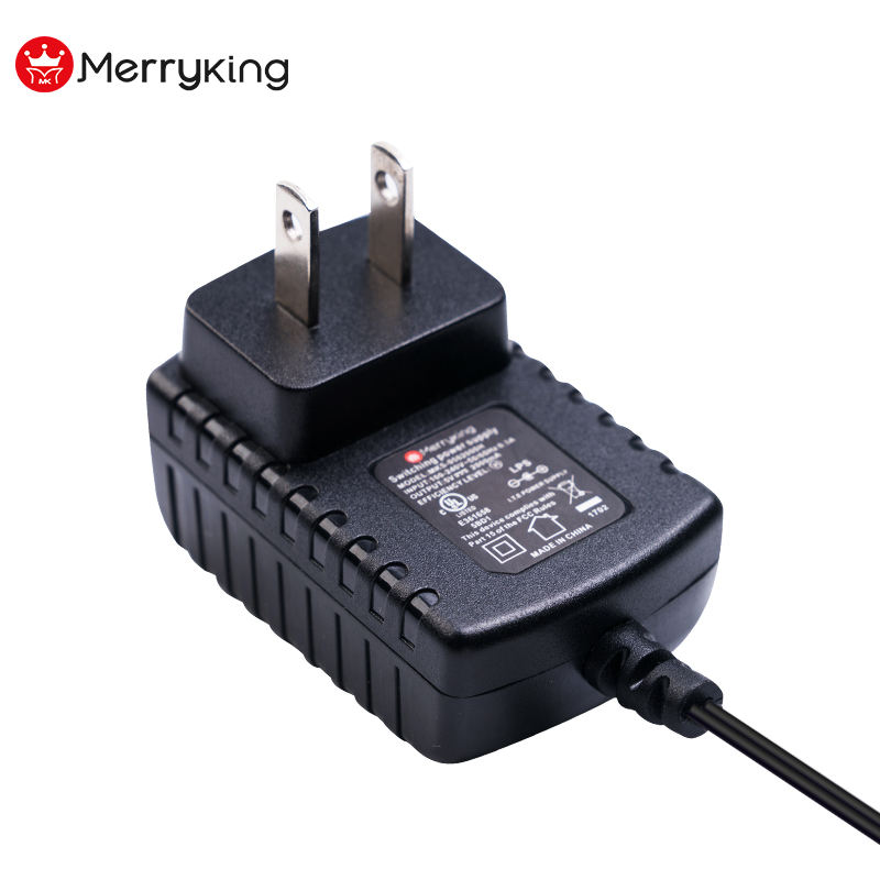 UL DoE Level 6 Certified Power Adapter 9V 12V 100mA 200mA 500mA AC DC Adaptor