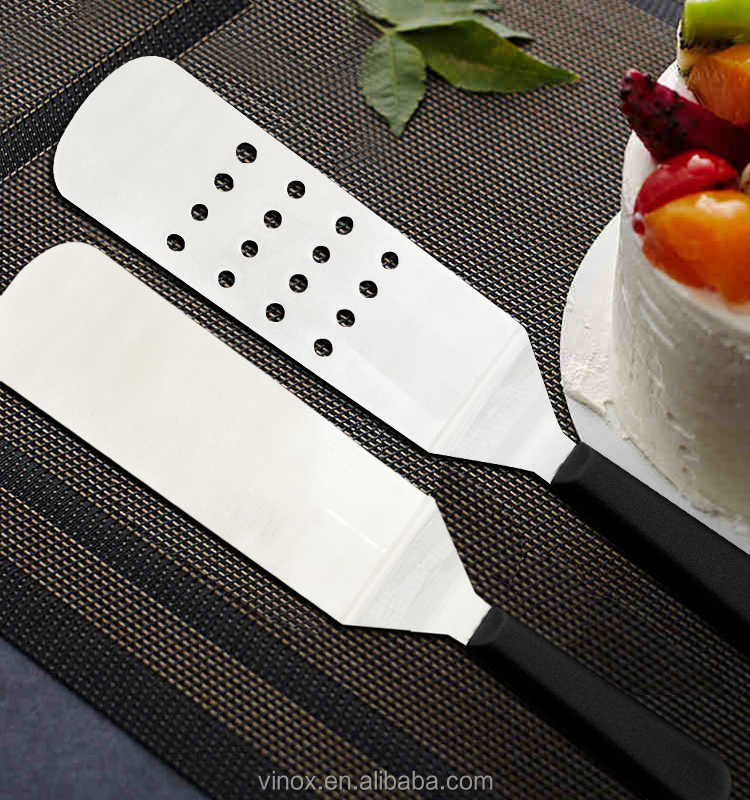 10.5inangle broad spatula turner with plastic handle