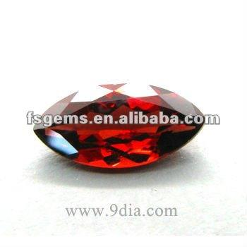 3*6 Natural Marquise Chinese Garnet Stone Red Color For Jewelry