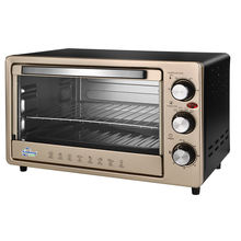 23L golden color table top electric oven roast bake grill home toaster oven