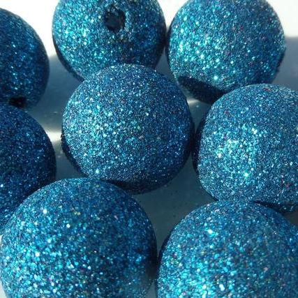 20mm AB iridescent blue rhinestone chunky bubblegum beads 5 or 10 pieces