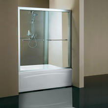 double open bathtub sliding door