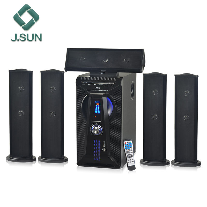 Profesional 5.1 home theater receiver dan speaker